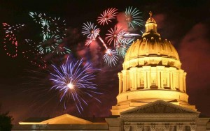 fireworks at the capital